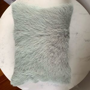Authentic Fur Accent Throw Pillow